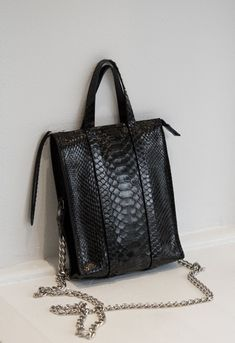c37ed68ec821 The Micro Classified Python Chain Tote. Wendy Nichol. Leather Craft