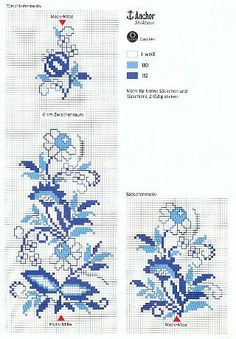 ru / Фото - KWIATY 4 - aaadelayda by alissa Mini Cross Stitch, Cross Stitch Needles, Cross Stitch Borders, Cross Stitch Flowers, Cross Stitch Designs, Cross Stitching, Cross Stitch Patterns, Blackwork Embroidery, Cross Stitch Embroidery