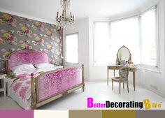 Headboard and footboard upholstered in what looks like hot pink velvet burnout. Modern Victorian Bedroom, Victorian Home Decor, Victorian Homes, Neo Victorian, Home Bedroom, Bedroom Decor, Bedroom Ideas, Boudoir, Bohemian Room