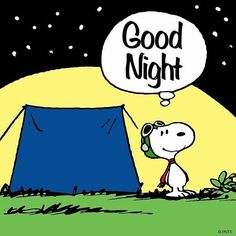 Snoopy says goodnight
