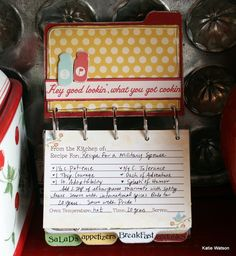 I neeeeeed to do this for my recipes. I'm tired of the ol' box.
