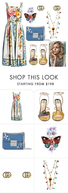 """""""Ynallection Dolce & Gabbana"""" by pearllynnerivera on Polyvore featuring Dolce&Gabbana, Gucci, MICHAEL Michael Kors, Rosantica and Anja"""