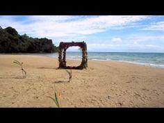 Wedding Setup at Kulu Bay Resort in Fiji. Fiji Wedding. Beach wedding.