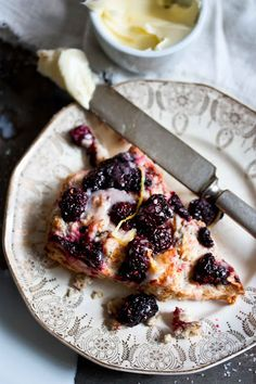 Blackberry Scones with Lemon Glaze