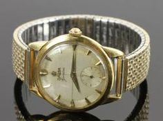 5049 - Men's 18K Gold Omega Geneve Wristwatch On Site Auction Under Large Tent | Official Kaminski Auctions