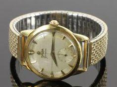 5049 - Men's 18K Gold Omega Geneve Wristwatch On Site Auction Under Large Tent   Official Kaminski Auctions