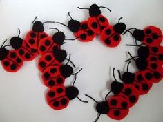 Crochet.is.Fun: Free Pattern: Ladybug Applique