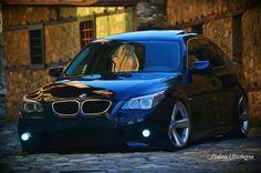 BMW E60 5 series black slammed