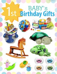 First Birthday Gifts for Girls and Boys