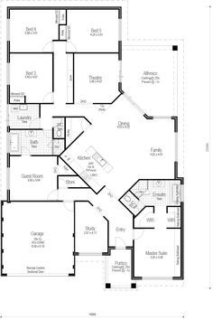Like this floor plan, few changes to master suite and adjust bedrooms Choice Series - The Lifestyle 300 - Floorplan Barn House Plans, New House Plans, Dream House Plans, House Floor Plans, Building Plans, Building A House, Home Design Floor Plans, House Blueprints, Sims House
