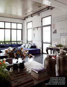 big windows + brick walls #brick #loft #decor