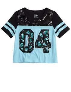 Sequin Football Tee | Girls Tops New Arrivals | Shop Justice