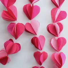 Learn how to make this adorable tissue paper garland for Valentine's Day. You can do it in less than an hour!