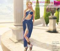 Full Perm Rigged Mesh Ancient Greek Princess Toga Dress