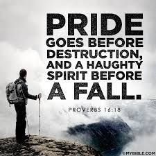 Image result for pride comes before the fall quote