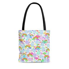 Sharpie Markers, Bag Sale, Unicorns, Rainbows, Black Cotton, Etsy Store, Reusable Tote Bags, Trending Outfits, Unique Jewelry