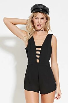 Cutout V-Back Romper | Forever 21 #thelatest