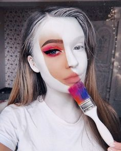 Are you looking for inspiration for your Halloween make-up? Navigate here for cute Halloween makeup looks. Pretty Halloween, Halloween Makeup Looks, Scary Halloween, Halloween Halloween, Women Halloween, Halloween College, Halloween Costumes, Halloween Office, Halloween Recipe