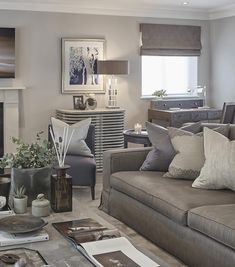 Modest Design Taupe And Grey Living Room Blue In The Rustic Chic Esher Project - grey and taupe living room, taupe and gray living room, taupe and grey living room Gray And Taupe Living Room, Elegant Living Room, Coastal Living Rooms, Rugs In Living Room, Living Room Furniture, Living Room Decor, Sofa Furniture, Living Room Color Schemes, Living Room Designs