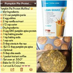 PUMPKIN PIE PROTEIN MUFFINS Yummy Recipe I Made Using Treats From GNC Gnctreatyourself
