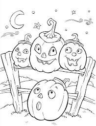 halloween coloring page pumpkins