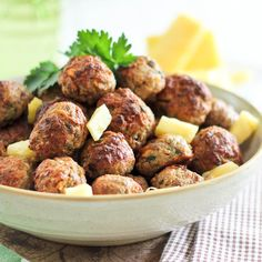 Deliciously Tender Pineapple Meatballs - very good! I used ground turkey and canned pineapple; next time I think I will baste them with a glaze of some sort...teriyaki?