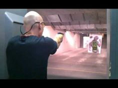 My husband showing off his shooting skills.