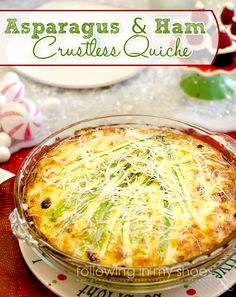 Christmas Tree Quiche With Asparagus and Ham - Perfect for Holiday Brunch