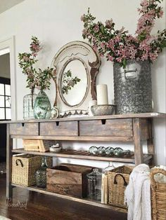 What a fabulous ikea hack!  Tutorial here: http://lollyjane.com/ikea-norden-sideboard-hack-makeover/