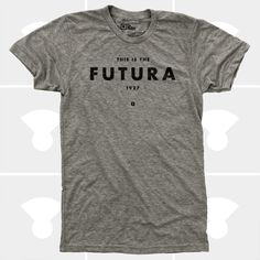 A gift for the typography geek in your life. TShirt Futura Typography TShirt Men by mediumcontrol on Etsy, $25.00