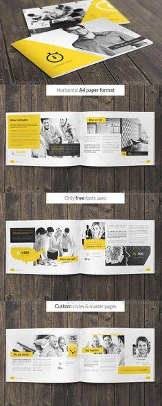 diseño de brochure corporativo inspiracion