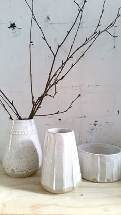 white vase LUKKILI on Etsy