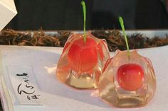 Japanese cherries in jello