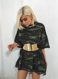 Kylie Jenner wearing camouflage. #inspiration #SOPHIA #SophiaHandbags www.sophia.pt