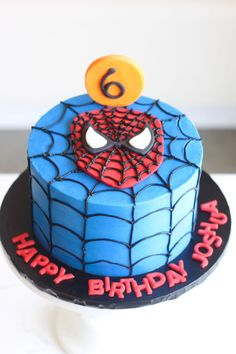 30 Amazing Image Of Spider Man Birthday Cakes Rise Cupcakes