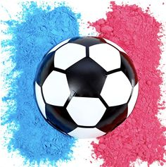 ⚽ COLORFUL CLOUD PUFF ⚽ - Enjoy an amazing cloud of brightly colored powder as soon as the ball is kicked. Leaves behind a huge cloud of color for everyone around to enjoy! ⚽ PERFECT FOR GENDER REVEAL PARTIES ⚽ - Add a special event to your baby gender reveal party by giving everyone an exciting surprise. Soccer theme ⚽ DURABLE BUT EASY TO BREAK ⚽ - Sturdy enough to not break if accidently dropped into softer surfaces but once it is kicked, expect a huge cloud of color. Baseball Gender Reveal, Gender Reveal Party Games, Gender Reveal Party Supplies, Gender Reveal Party Decorations, Reveal Parties, Party Themes, Party Ideas, Gender Reveal Smoke Bomb, Soccer Theme Parties