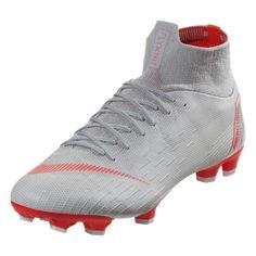 best authentic bc0a5 d6d13 Nike Mercurial Superfly VI Pro FG Soccer Cleat - Wolf Grey Crimson Pure  Platinum Metallic Silver   SOCCER.COM
