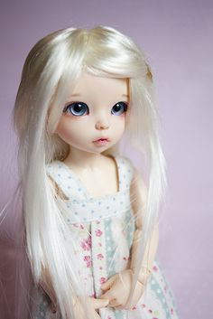 So much hair XD Story is my Fairyland Littlefee Ante elf with faceup by Lady SleepsAlot