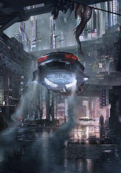 setting inspiration Cybercity by Bo Zonneveld Cyberpunk Aesthetic, Cyberpunk City, Futuristic City, Fantasy City, Sci Fi Fantasy, Sf Wallpaper, Space Opera, Sci Fi City, Science Fiction Art