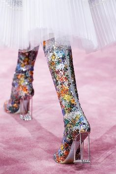 Rainbow Sequin Boots