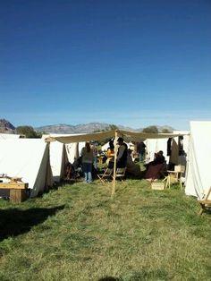 Union camp at Civil War reenactment in Las Vegas