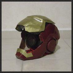 High Detailed Iron Man Helmet Papercraft Free Template Download