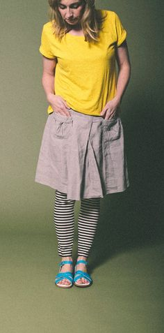 If it's not quite Summer Skirt Weather you can still wear your Salt-Waters. Layer them up with some leggings! Salt And Water, Summer Skirts, Weather, Leggings, Turquoise, Shirt Dress, Sandals, How To Wear, Shirts