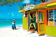 A Wooden Beach Bar in Jamaica (Caribbean Island) Barbados, Negril Jamaica, Bahamas, Jamaica Beach, Jamaica Island, Island Beach, Bora Bora, Haiti, North America Destinations