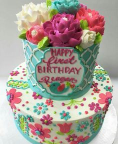Likes, 44 Comments – The White Flower Cake Shoppe ( - Birthday Cake Flower Ideen Pretty Cakes, Beautiful Cakes, Amazing Cakes, Flower Cupcake Cake, Cupcake Cakes, Sloth Cakes, White Flower Cake Shoppe, Bithday Cake, Painted Cakes