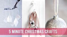 5 minute Christmas crafts | Village Voices