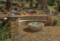 Check out this beautiful patio and fire pit installed using Cambridge Pavingstones with ArmorTec!