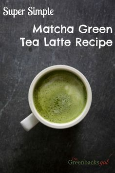 Super Simple Matcha Green Tea Latte Recipe. Creamy and delicious it's perfect for breakfast or midday.