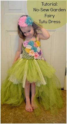 Homemade Fairy Tutu Dress