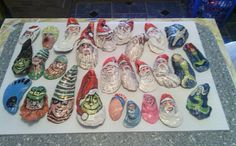 Hand Painted Oyster Shells by JaxonSigns on Etsy